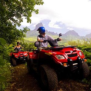 Tour the lush island of Moorea by ATV