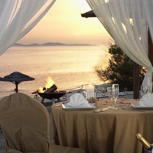 Dinner on a Beach in Mykonos